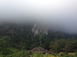 Fog in the morning at Cliff and River Jungle Resort