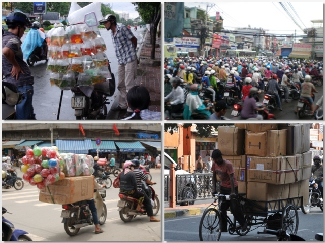 Interesting ways of transporting items in Asia
