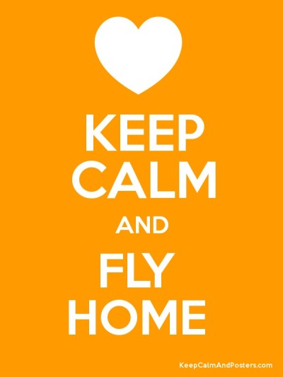 Keep Calm and Fly Home