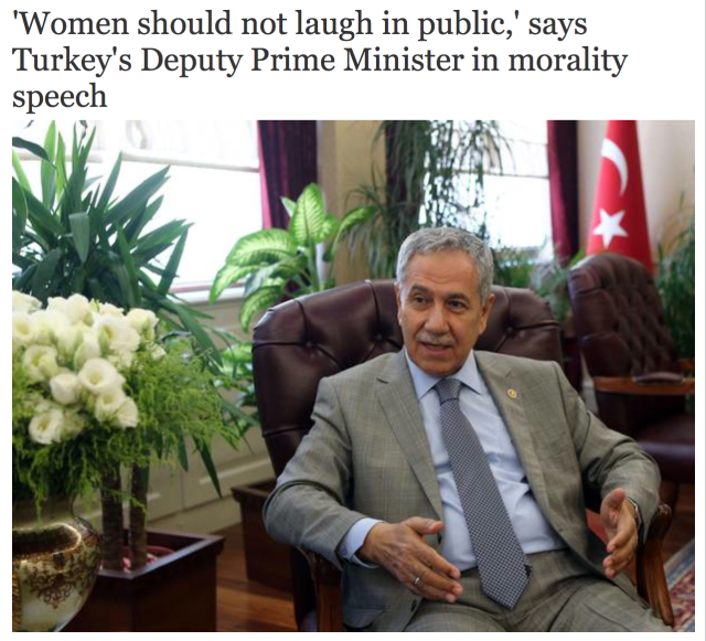 Women should not laugh in public