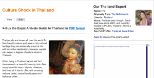 Expat Arrivals; culture shock Thailand