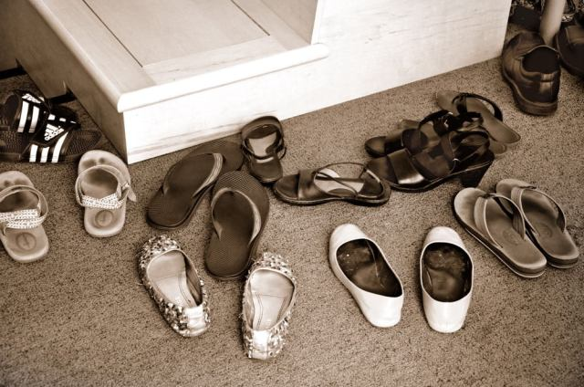 124. Only in Asia – taking of your shoes inside the house